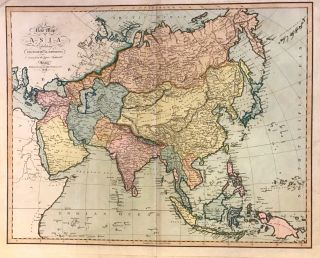 A New Map of Asia Exhibiting Its Political Divisions drawn from the latest Authorities. John CARY.