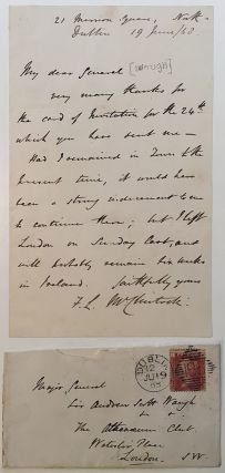 Scarce Autographed Letter Signed. Francis Leopold McCLINTOCK, 1819 - 1907