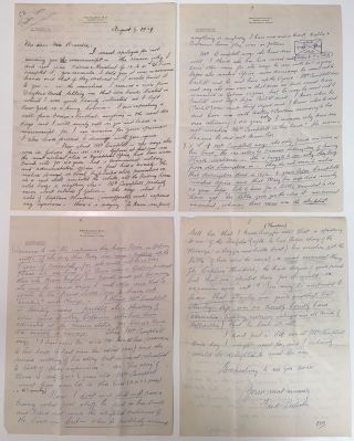 Lengthy and historically important Autographed Letter Signed to his editor on personal...