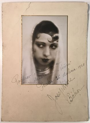 Scarce Inscribed Photograph in Slavik. Josephine BAKER, 1906 - 1975.