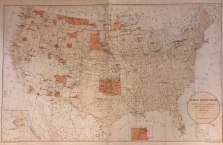Map showing the location of the Indian Reservations within the limits of the United States and...