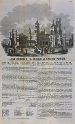 Second Exhibition of the Metropolitan Mechanics' Institute. BROADSIDE