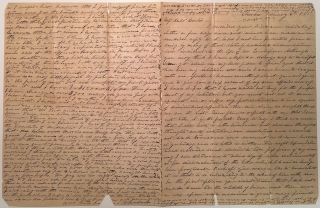 Lengthy Autographed Letter Signed about Dentistry and the early use of Chloroform. Cornelius...