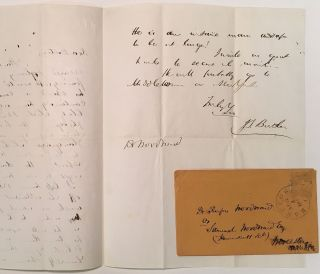 Autographed Letter Signed to a fellow doctor. J. S. BUTLER, 1823 - 1877