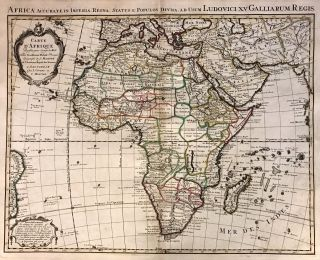 Carte d'Afrique; Incredible 1742 map of Africa. after Guillaume Delisle, Jean COVENS, Cornielle MORTIER.