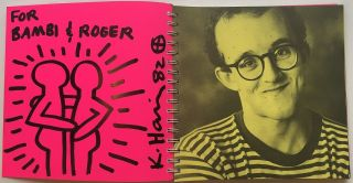 Signed Limited Edition Exhibition Catalog with full-page Original Artwork. Keith HARING, 1958 - 1990.