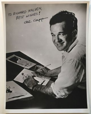 Inscribed Photograph. Al CAPP, 1909 - 1979