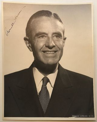 Signed Photograph as Governor of New York. W. Averill HARRIMAN, 1891 - 1986.
