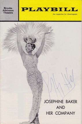 "Signed Playbill -- ""Josephine Baker and Her Company"" Geoffrey HOLDER, 1930 - 2014."