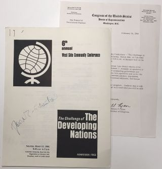 Signed Mimeographed Program. David E. LILIENTHAL, 1899 - 1981