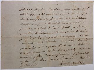 Autographed Document Signed about a bounty for a Revolutionary War veteran. Peter W. YATES, 1747...