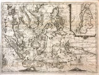 Southeast Asia]; Rare 1725 Map of East Indies and South East Asia. Réne Augustin...