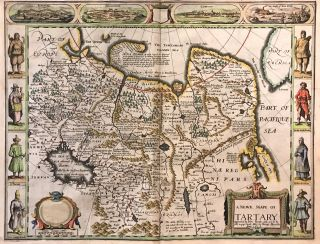A Newe Mape of Tartary; 1626 John Speed Map of Tartary. John SPEED