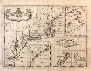 A New Map of the Most Considerable Plantations of the English in America. Edward WELLS