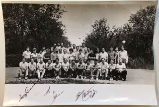 "SOYUZ T-6 ""PRE-FLIGHT PICNIC OUTING"" SIGNED PHOTO. COSMONAUTS."
