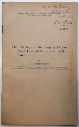 Inscribed Medical Journal. Raymond LEWTHWAITE, 1894 - 1972