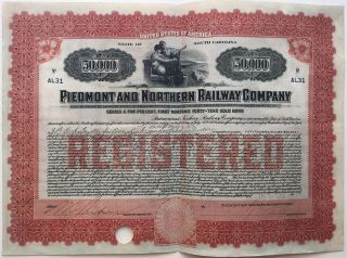 Partly-printed Signed Railroad Bond. James B. DUKE, 1856 - 1925.