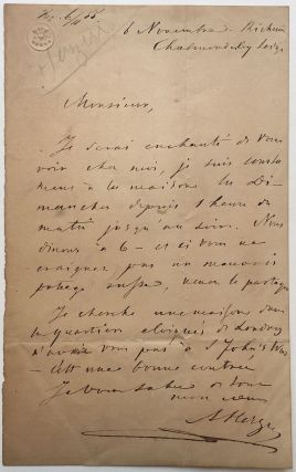 Rare Autographed Letter Signed in French while in exile. Alexander I. HERZEN, 1812 - 1870
