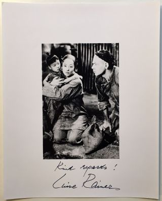 Signed Photograph. Luise RAINER, 1910 - 2014