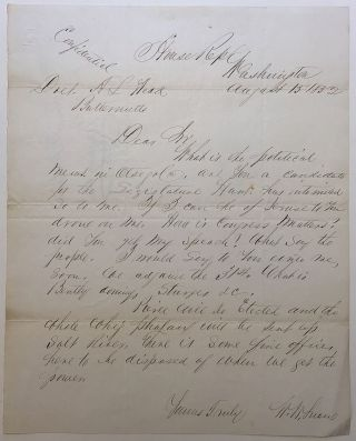 Autographed Letter Signed. William W. SNOW, 1812 - 1886