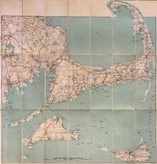 Automobile Map of Massachusetts Cape Cod Section. GEORGE H. WALKER, CO.