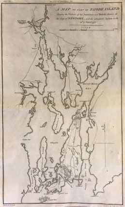 A Map of Part of Rhode Island Shewing the Positions of the American and British Armies at the...