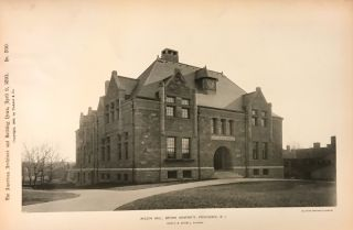 Wilson Hall, Brown University, Providence, R. I. TICKNOR, CO