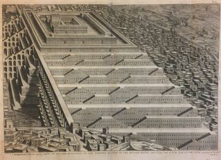 A Representation and View of All the Buildings of the Temple as also of the Houses Round About on...