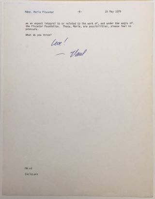 Important typed letter signed on personal letterhead