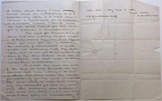 Autographed letter signed from The Harvard Rebellion of '41
