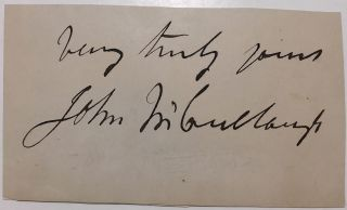 Clipped signature. John McCULLOUGH, 1805 - 1870