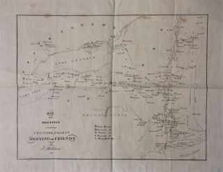 Map of the Meetings constituting New-York Meeting of Friends. Shadrach RICKETSON