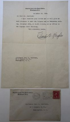 Typed letter signed on Supreme Court stationery. Charles Evans HUGHES, 1862 - 1948