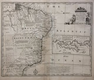 A New & Accurate Map of Brasil. Divided into its Captainships; Drawn from the most approved Modern Maps & Charts, and Regulated by Astronomical Observations. Emanuel BOWEN.