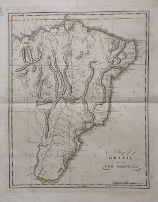 A Map of Brazil now called New Portugal. Mathew CAREY