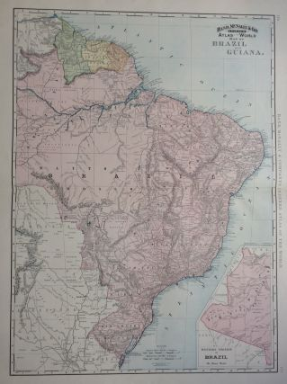 Map of Brazil and Guiana; from Indexed Atlas of the World. RAND MCNALLY, CO