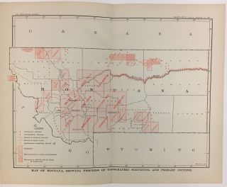 Map of Montana, Showing Progress of Topographic Surveying and Primary Control. Charles Doolittle WALCOTT.