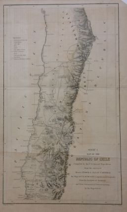 Map of the Republic of Chile - Sheets I, II, and III; Compiled by the U.S. Astronomical...
