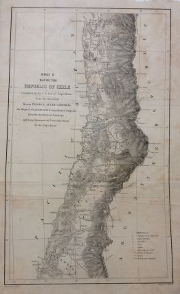 Map of the Republic of Chile - Sheets I, II, and III; Compiled by the U.S. Astronomical Expidition from the surveys of Pissis & Campbell