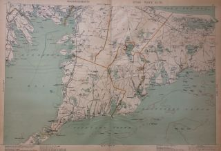 Massachusetts Atlas Triptych: Plates 8, 9, and 12