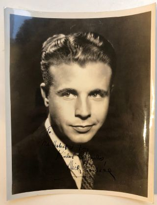 Inscribed photograph. Dick POWELL, 1904 - 1963