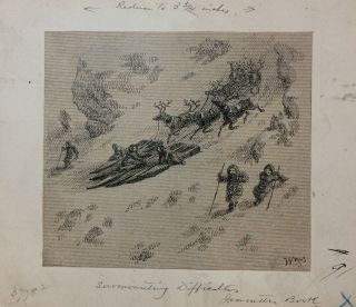 Surmounting Difficulties; Original drawing from Our Lost Explorers: The Narrative of the Jeannette Arctic Expedition. WILLIAMS.