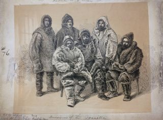 Survivors of the Jeannette; Original drawing from Our Lost Explorers: The Narrative of the Jeannette Arctic Expedition. WILLIAMS.