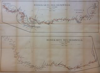 Reisekarte des Heimwegs; (travel map of the way home). LOSIO