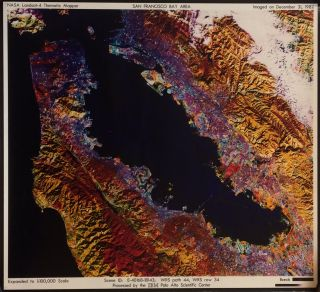 NASA Landsat-4 Thematic Mapper San Francisco Bay Area. NASA