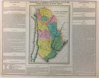 Geographical, Historical, and Statistical Map of the United Provinces of South America.