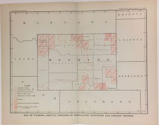 Map of Wyoming, Showing Progress of Topographic Surveying and Primary Control. Charles Doolittle WALCOTT.