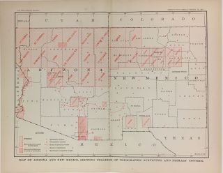 Map of Arizona and New Mexico, Showing Progress of Topographic Surveying and Primary Control. Charles Doolittle WALCOTT.