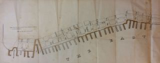 Piers and Parts of Piers marked C belong to the Corporation; Rare map of the Piers of the East River, Manhattan, New York City