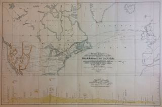 Mercator's Projection. With the Great Circle, Shortest Sailing, or Air Lines, Illustrating the...